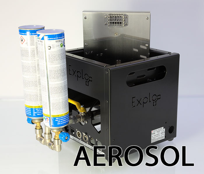 Aerosol cartridge extension for the GX2